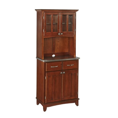 Home Styles 5001-0073-72 Buffet of Buffets 5001 Buffet Server and Hutch, Medium Cherry Finish