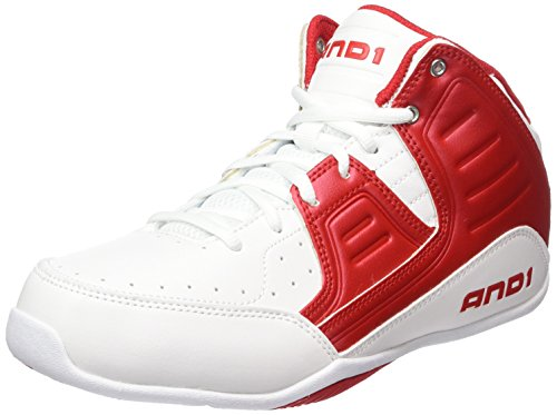 And1 Rocket 4, Herren Baseballschuhe, Rot (bright white/F1 red/bright white & WRR), 46 EU