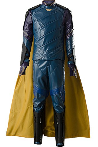 Cosplaysky Thor Ragnarok Loki Costume Halloween Outfit Blue Version X-Small -