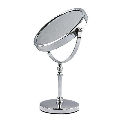 12 Liqui Caps - EYX Formula Double Sided and Free Standing Table-Top Makeup Mirror for Detailed Makeup,Magnifying Mirror Vanity For Bathroom