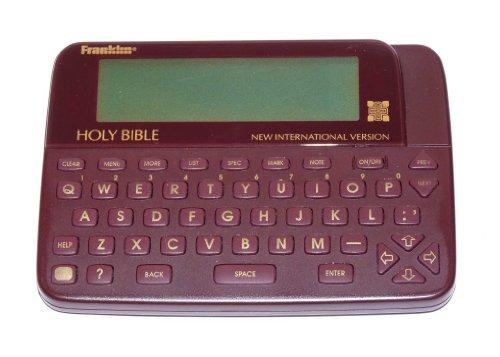 Franklin New International Version Electronic Handheld Holy Bible Model Niv-30