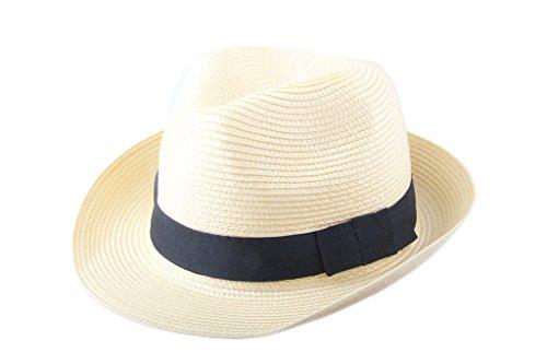Dantiya Panamahut Damen Herren 8 Farben Sommer Fedora Sonnenhut Stroh Flechten Panama Hut (Heilgelb)