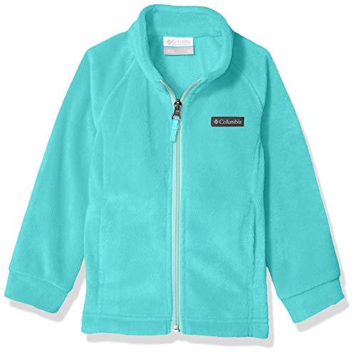 Columbia Girls Benton Springs Fleece Jacket, Geyser/Spray, X-Small