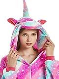 Unisex Unicorn Costumes Pyjamas, Adult Women Men Animal Cosplay Onesie (A-Purple Sky Unicorn, S (Height:4'9''-5'2''/146cm-157cm))
