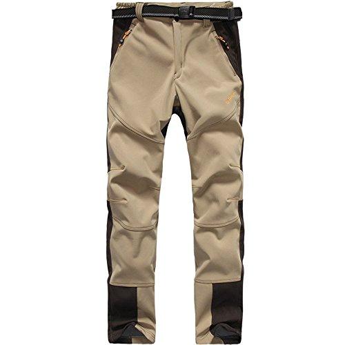 Caqui Trekking Polar Mujer Deporte Camping Pantalón nbsp;pantalones Outdoor Senderismo Forro Cortavientos Softshell nbsp;– Impermeable Flygaga qPI4x16wnw