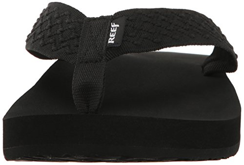 Reef Mens Smoothy Sandal Black p1e7QOti5U