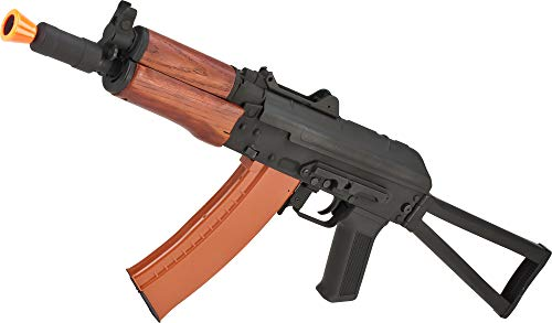 Evike Full Metal AKS-74U / AK-74 Airsoft AEG Rifle with Real Wood Furniture by CYMA (Package: Gun Only) (Ak74u Guns Airsoft)
