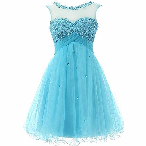 Delle Charmingbridal Di Breve Vestito Casa Blu Promenade Paletta Ritorno Dell'abito Donne A Sd055 Tulle 1wqPSxUOq