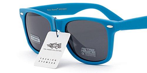 Retro Rewind Classic Polarized Sunglasses Blue | Smoke Polarized