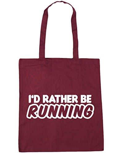 10 42cm Beach Running Burgundy I'd Gym x38cm Tote HippoWarehouse litres Rather Shopping Be Bag wzypwq0P