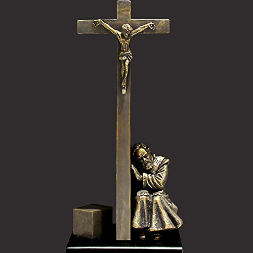 St. Padre Pio - I Absolve You (Tiny) Christian Sculpture by Timothy Schmalz