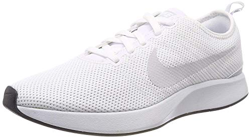 bc41f180a800f Nike Womens Dualtone Racer Low Top Lace Up, White/White/Pure Platinum,