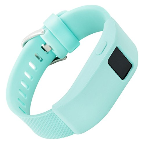 WITHit - Fitbit Charge/Fitbit Charge HR Slim Designer Sleeve - Band Cover - Teal Solid