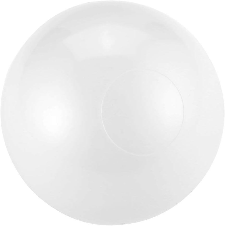 Funnyrunstore 50 Pcs 7CM Bebé Anti Estrés Pelota de Océano Plástico Seguro Negro Gris Bolas Blancas para Piscina Pit Juego de Deportes al Aire Libre Juguetes (Blanco)