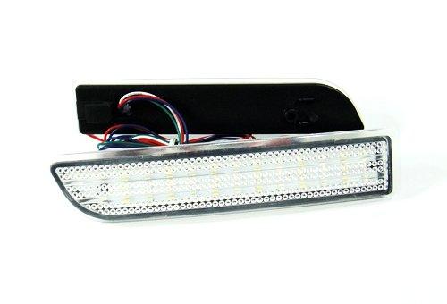 2x Clear Lens Rear Bumper Reflector LED Fog Tail Stop Brake Light Reverse Lamp For Alphard Avensis Previa RAV4 Vanguard