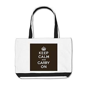 wyd-a corona llevar impreso Classic bolsa bolsas color blanco/negro