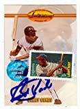 Bobby Bonds autographed Baseball card (San Francisco Giants) 1993 Ted Williams #51 (with Larry Doby Stamp and authentication on front)