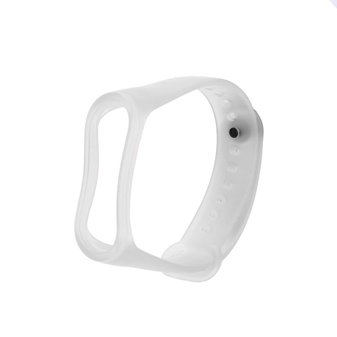 for Xiaomi Mi Band 3,KFSO Silicone Replacement Band,Transparent Clear Replacement Wristband Strap Accessories(Not for Mi Band 2/1S) (White)