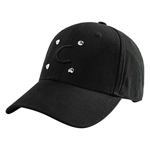 - ACEKB Unisex Ponytail Messy Buns Trucker Plain Baseball Visor Cap Dad Hat (Black)
