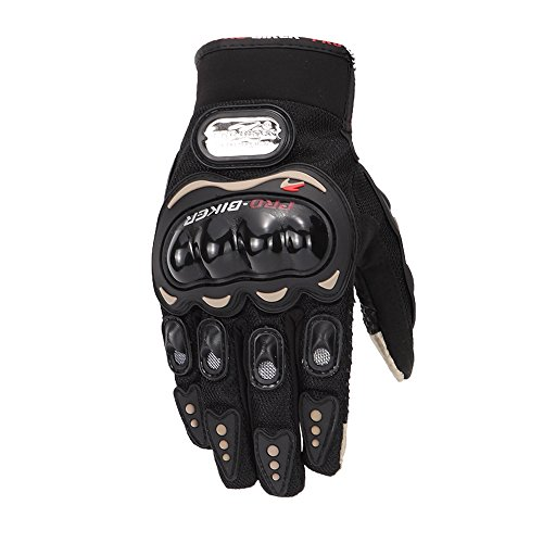 Full Finger PRO-BIKER Motorcycle Motorbike Cycling Racing Gloves 01C (L)