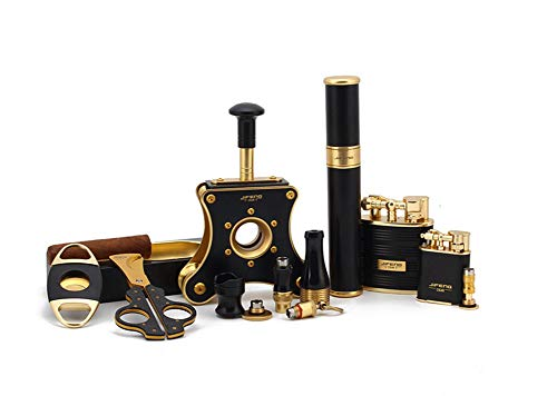 ZNMB Cigar Supplies Cigar Cut Cigarette Holder Cigar Ashtray Cigar Tube 10 Piece Set