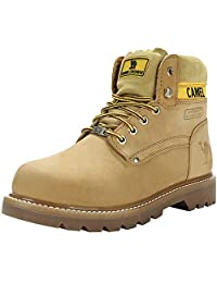 CAMEL CROWN Men's 6'' Plain Soft Toe Work Boots Premium Full Grain Leather Rubber Sole