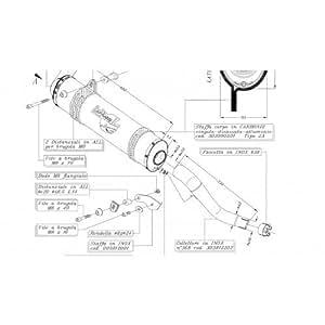 Auspuff LeoVince X3-Quad Slip On Enduro (E) Aluminium für SUZUKI QUAD LTZ 400 2003-2008