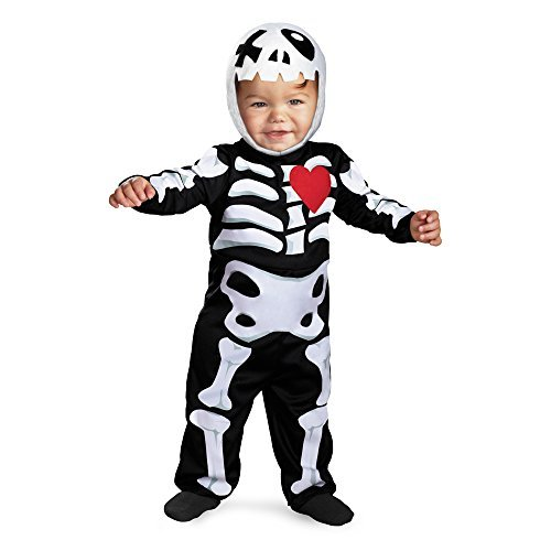 Disguise Baby's Tiny Treats Xo Skeleton Costume, Black/White, 12-18 Months -