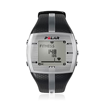 Polar FT7 Mens Black/Silver Heart Rate Monitor Watch from Polar Electro Inc