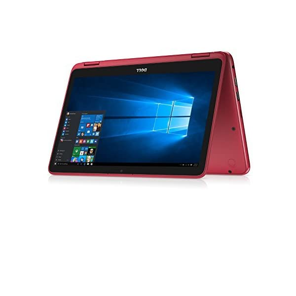 "Dell 2018 Newest Lightweight Inspiron 11.6"" Touchscreen 2 in 1 Laptop PC AMD A6-9220e Processor 4GB DDR4 RAM 32GB eMMC SSD Hard Drive Radeon R4 Graphics Wifi Webcam Bluetooth 3.2 Lbs Windows 10 (Red) 1"