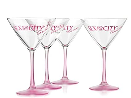 Sex and the city set of 4 martini