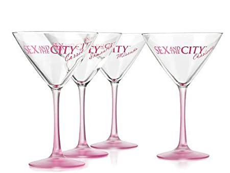 Sex and the city set of 4 martini glasses
