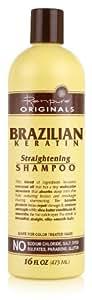Renpure Originals Brazilian Keratin Straightening Shampoo, 16 Ounce (Pack of 2)