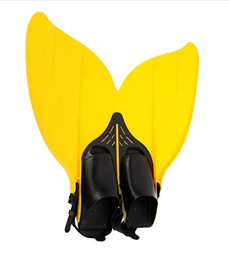 Gwood Meerjungfrau Flossen Monofin Taucherflossen für Kinderschwimmen Schwimm Flossen (Gelb)