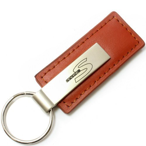 Acura Type-S Black Leather Keychain