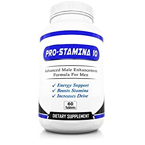 Pro-Stamina 10 Male Enhancement - Maximum Strength Enhancing Pills for Men - Improve Sexual Health and Wellness - Restore Energy and Drive Fast - Highest Quality Enhancing Products and Supplements