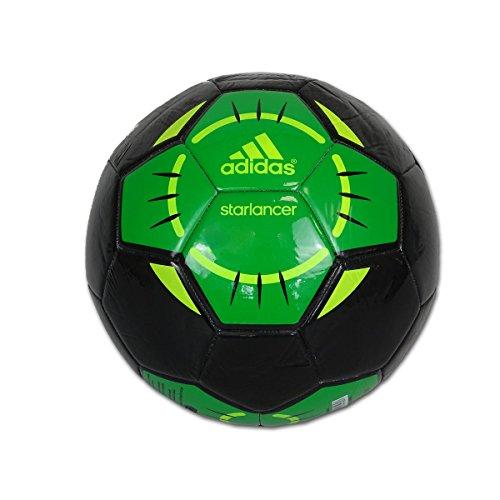 Fußball, Trainingsball STARLANCER IV Adidas Schwarz/Grün
