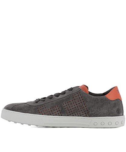 Tods Mens Xxm0xy0x990eyd43f6 Sneakers In Camoscio Grigio