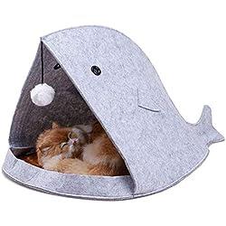 Casa De Mascotas Para Perros Pequeños Gatos Lindo Tiburón Artificial Cama Con Forma De Pez Decoración Para Mascotas Muebles Suministros Salón Juego Juego Portátil De Dos Colores Opcional 15.75 × 23.62