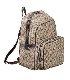 d90e68075105 Replica Gucci GG Canvas Backpack Beige Ebony  Amazon.ca  Shoes   Handbags