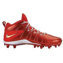 Nike Huarache 4 LAX LE Lacrosse Cleats - Red Chrome-10.5