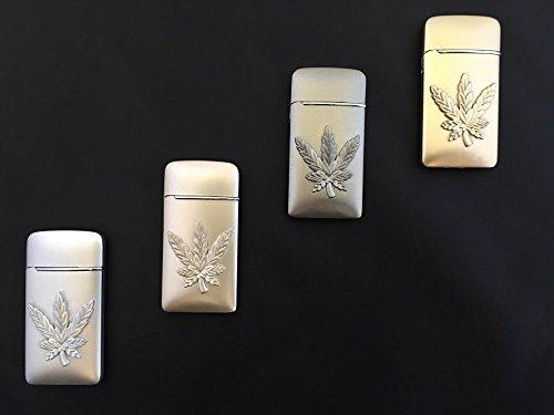 (GStar® TorchZilla Series Raised Cannabis Leaf Theme Refillable Butane Torch Lighter)