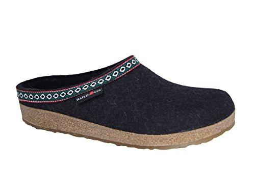 Haflinger Grizzly Franzl 711001 Damen Pantoffeln Bordeaux