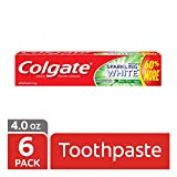 Colgate Sparkling White Whitening Toothpaste, Mint - 4 ounce (6 Pack)