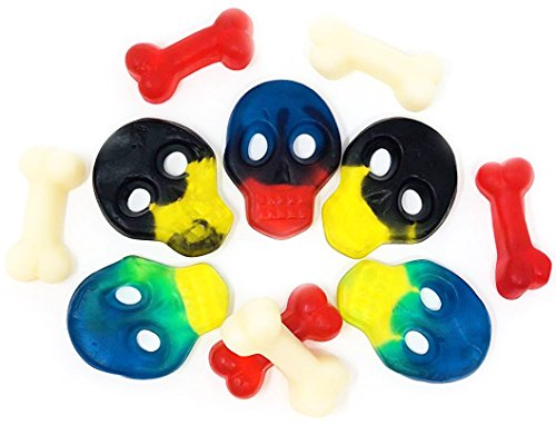Pirate Party Skulls and Bones assorted gummy Halloween party candy supplies bulk -