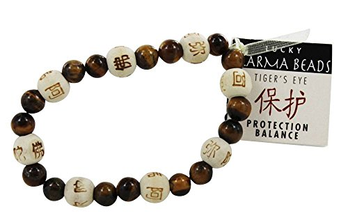 Zorbitz Inc. - Lucky Karma Bracelet with Tiger's Eye for Protection & Balance
