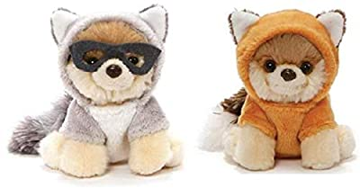 GUND Itty Bitty Boo Bundle of 2, Raccoon and Red Fox