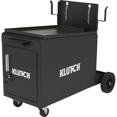 Klutch Compact Locking Welding Cabinet - 135-Lb. Capacity