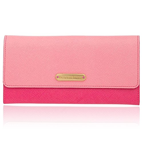 Victorias Secret Clutch Fold Over Wallet In Pink With Gift Box