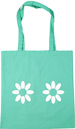 Tote Mint 10 litres Beach 42cm x38cm Bag Shopping Gym Daisy HippoWarehouse pattern UxqyEPOwyz